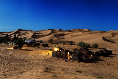 Desert camp in Morocco